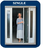 disappearing screen doors - single