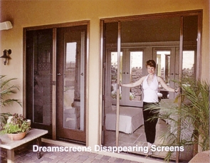 disappearing retractable screens